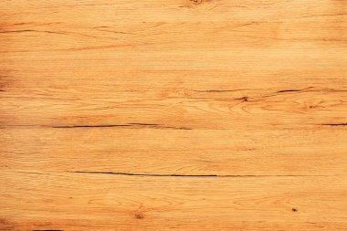 Rustic oak plank texture overhead view