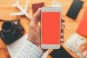 Üzleti utazási app részére mozgatható telefon képernyő ál