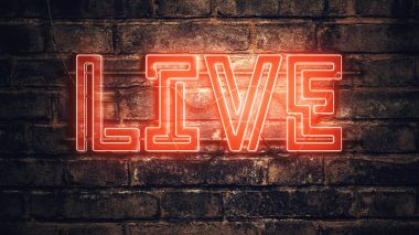 Live neon sign