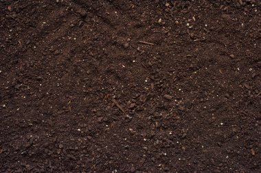 Agricultural soil texture top view
