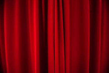 Red velvet curtains