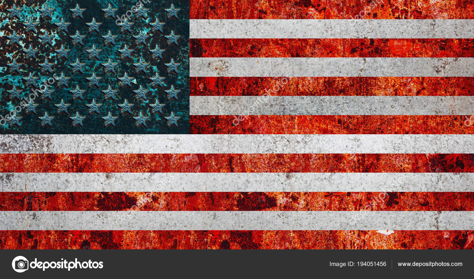 Usa Banner National Flag Of United States Of America Stock Photo