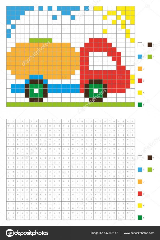 Livre De Coloriage Avec Des Places Numerotees Enfants Coloriage
