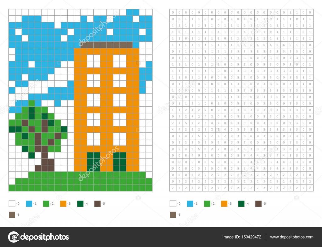 Libro de colorear con plazas numeradas. Niños colorear página para ...