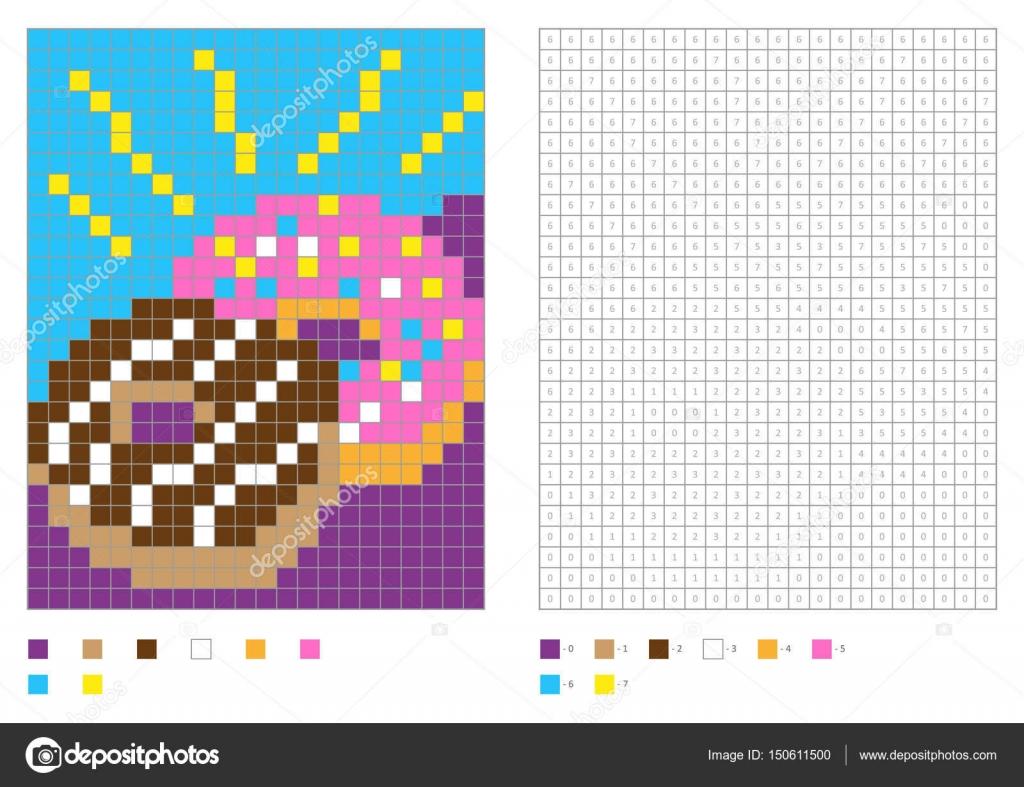 Enfants Coloriage Pixel Coloriage Avec Numérotées Carrés