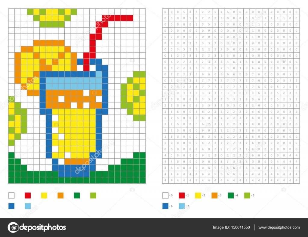 Cocktail Coloring Pages Kids Coloring Page Pixel Coloring