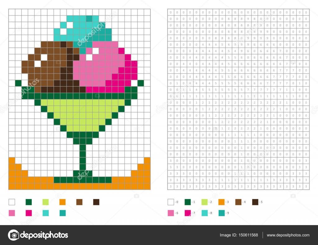 disegni per bambini pixel art