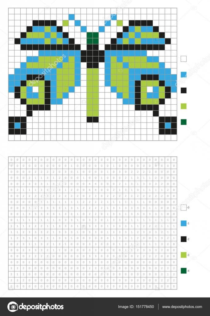 Kinderen Kleurplaten Pagina Genummerde Pixel Kleuren Met