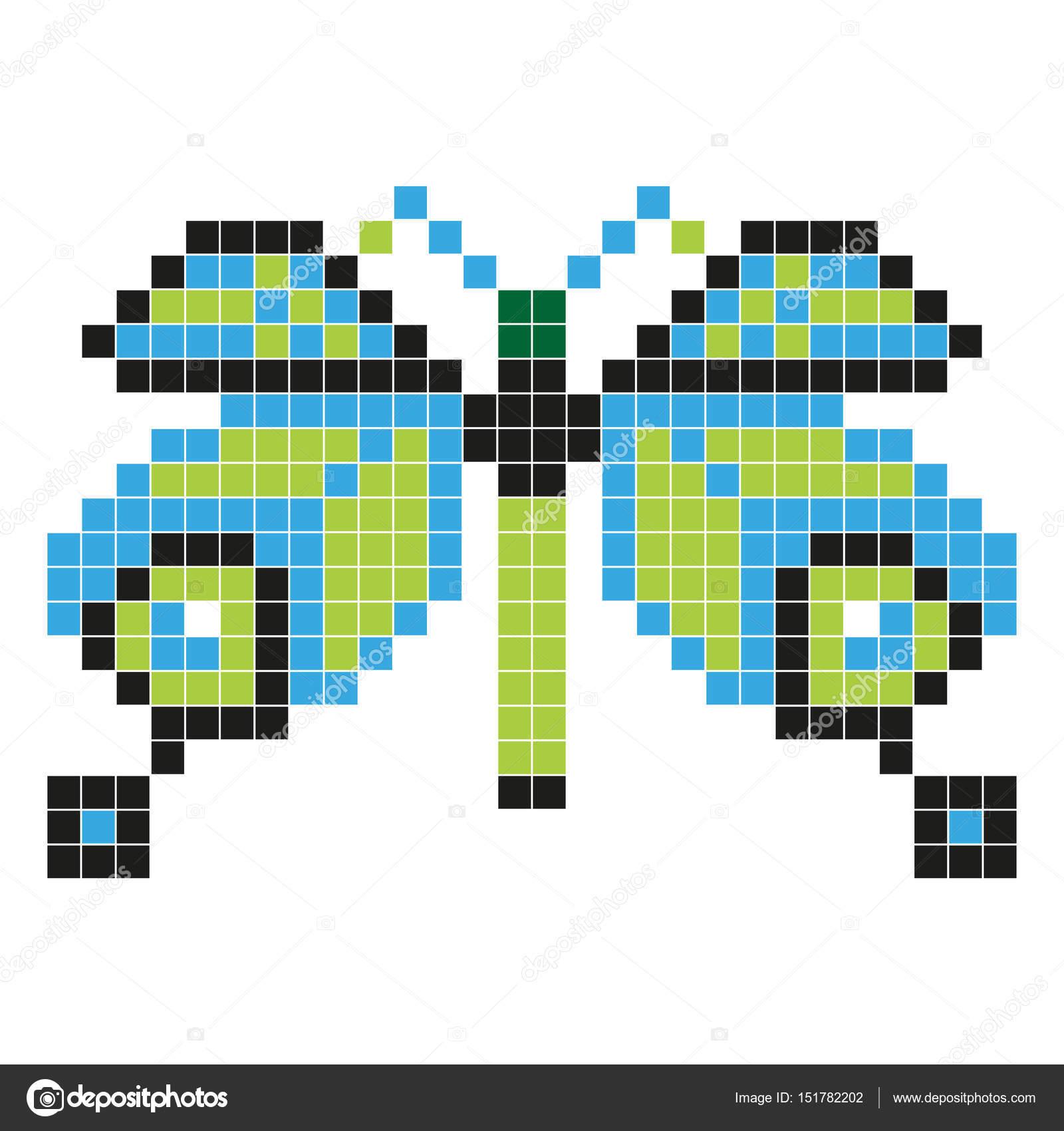 Papillon Style De Pixel Art Image Vectorielle Aglia83