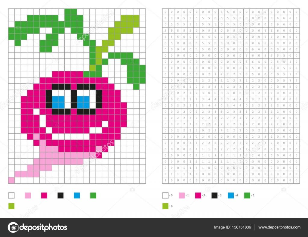 pixel coloring pages - ni os p gina pixel para colorear con el r bano divertido