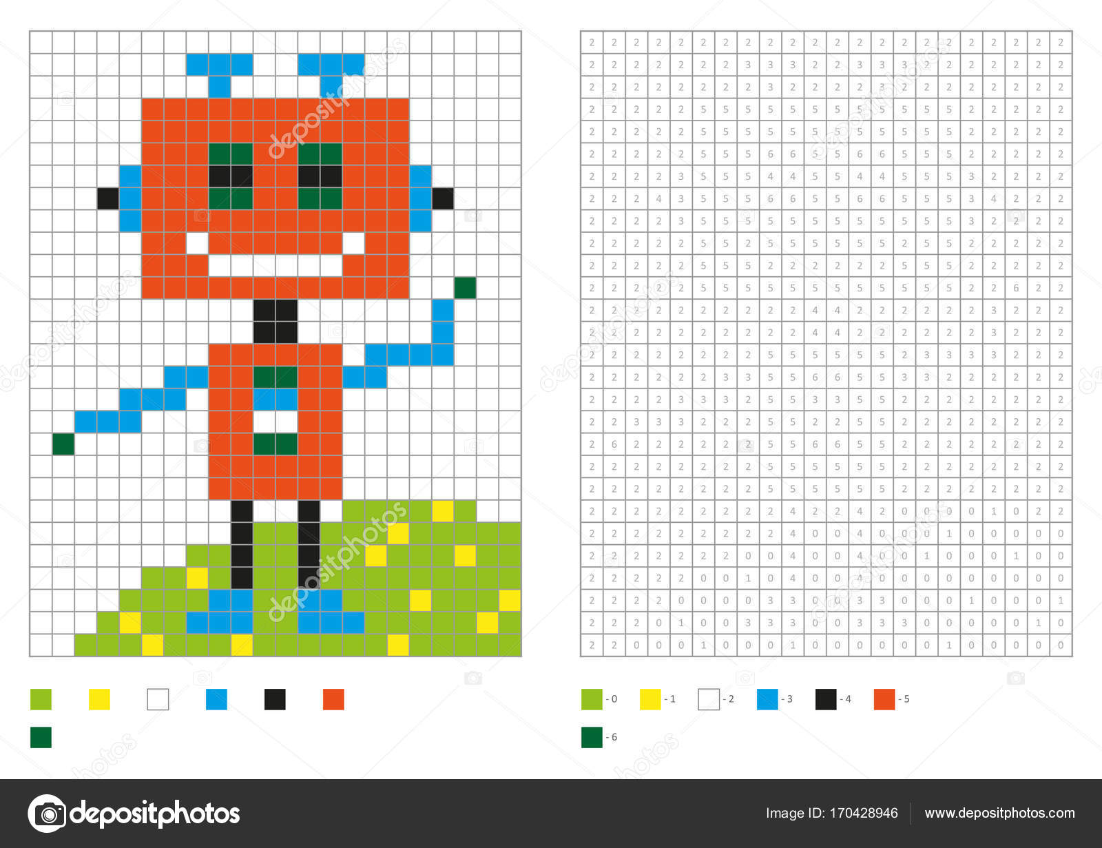 Kids Coloring Page Pixel Coloring Fantastic Robot Vector