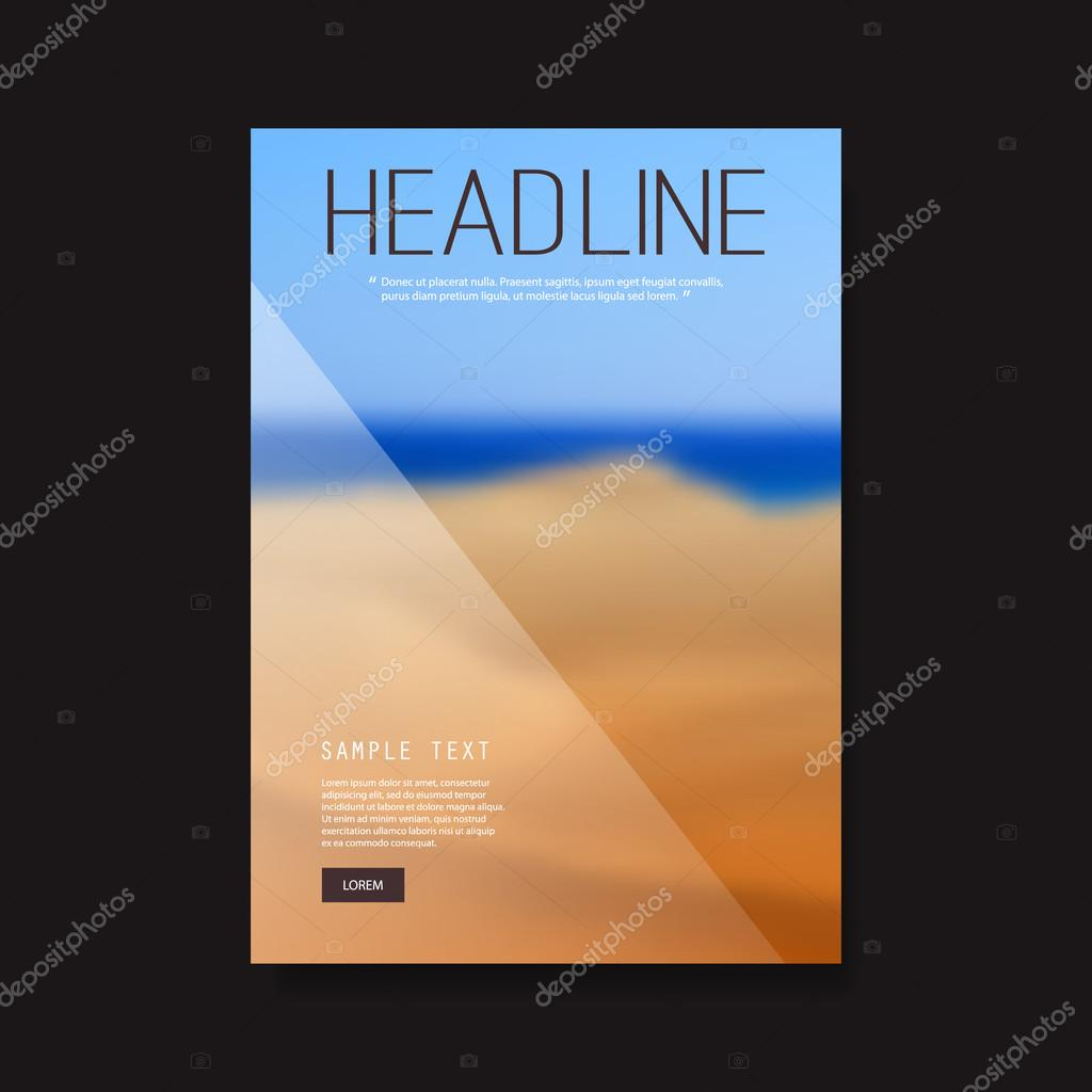 business flyer or cover design with blurred desert image corporate