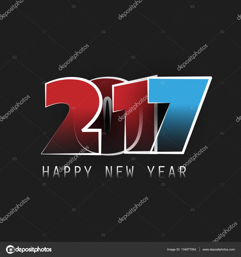 Best Wishes Abstract Modern Style Happy New Year Greeting Card Or