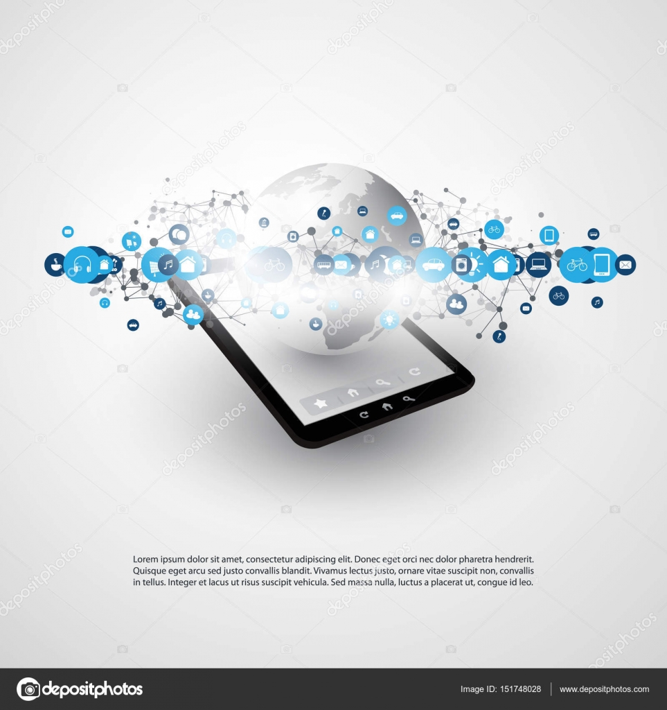 Internet Der Dinge Cloud Computing Design Konzept Mit