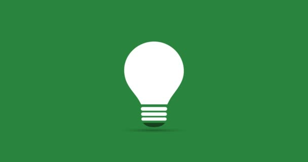 Green Eco Energy Concept Video Animation - Plant Growing Inside a Light Bulb