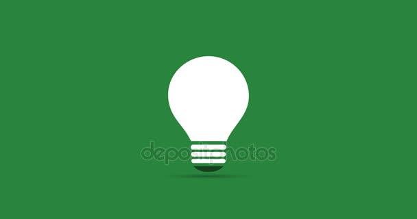 Zelená energie Eco koncept Video animace - rostlina roste uvnitř žárovky