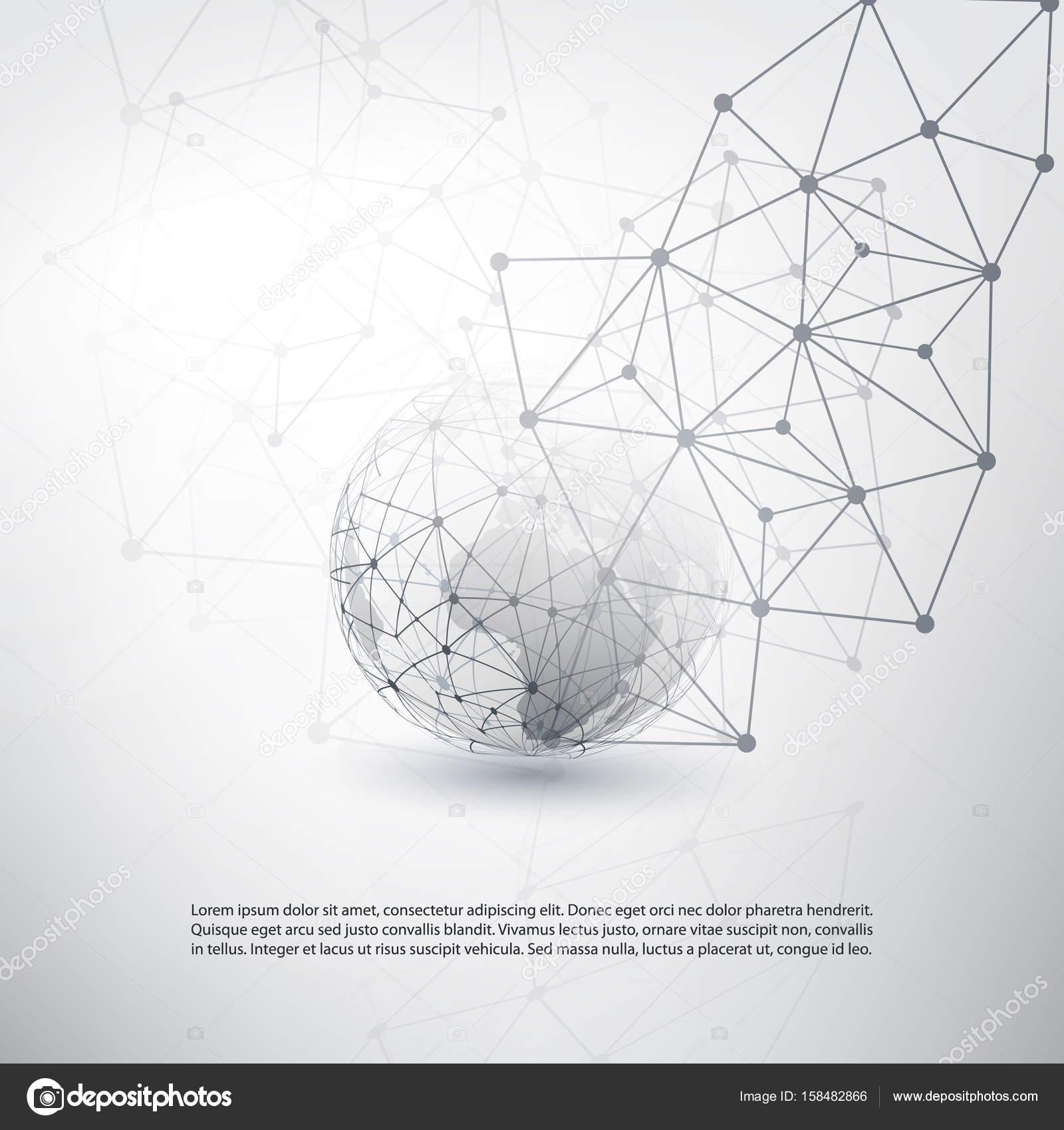 Cloud-Computing und Netzwerke Konzept - globalen digitalen Netzwerk ...
