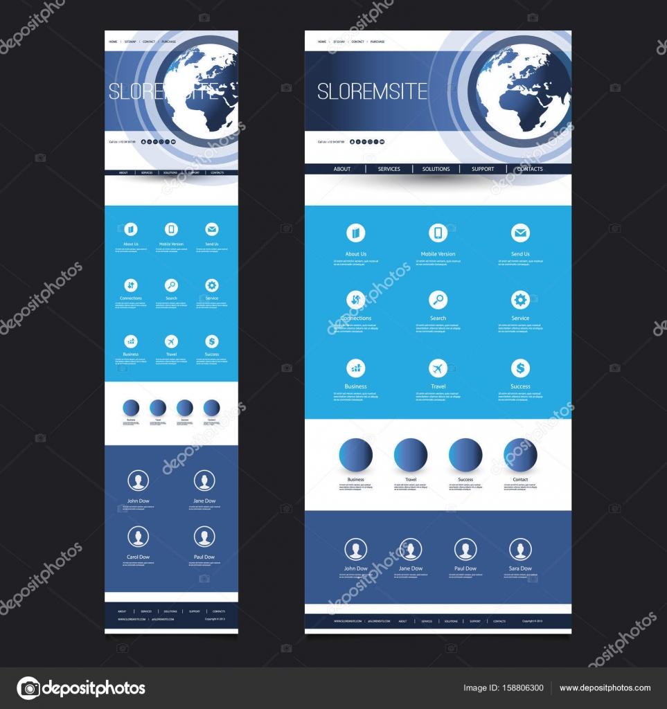 Plantilla - cabecera diseño con globo de tierra - móviles y de ...