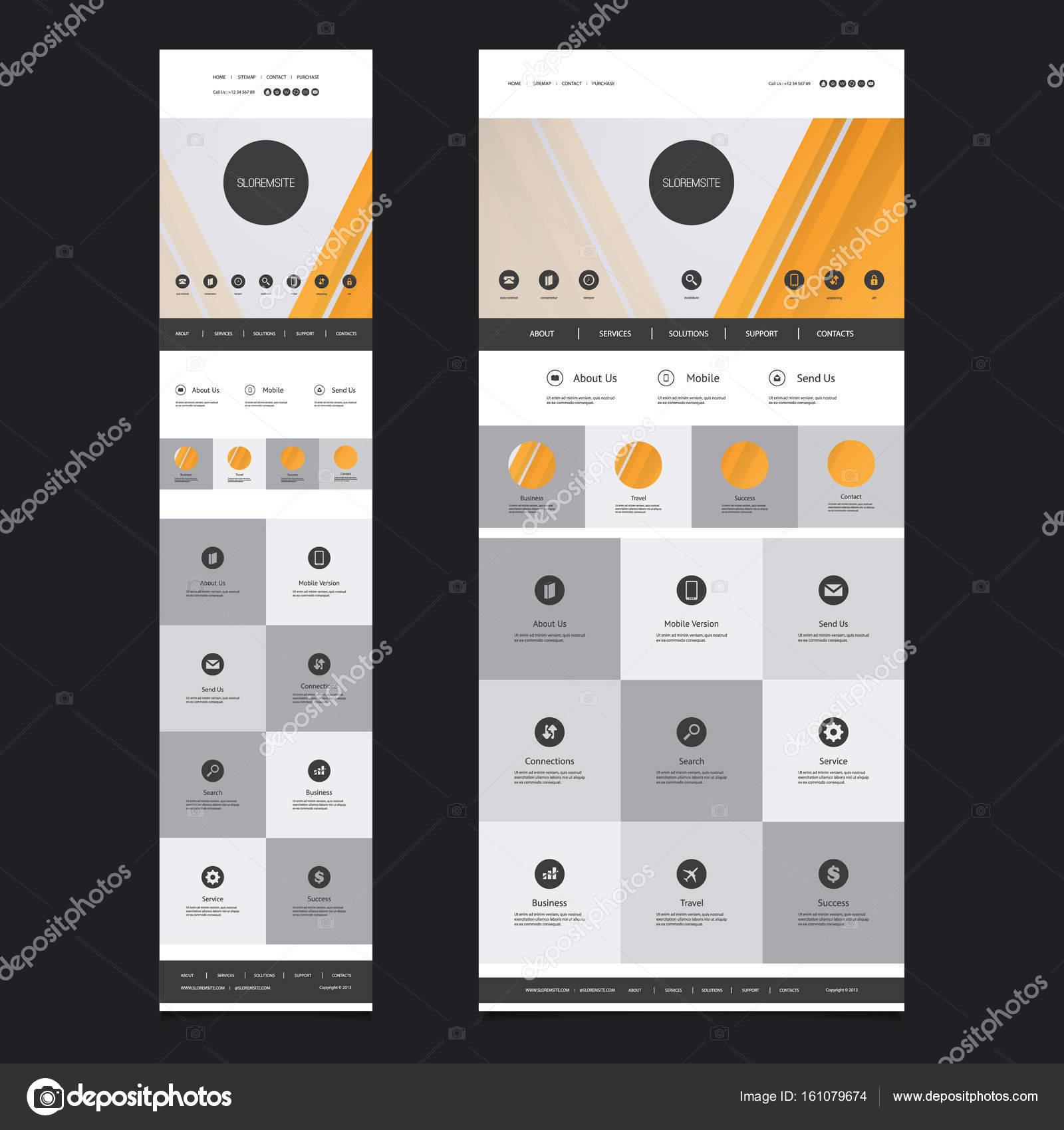 Ansprechende One Page Website Vorlage - Desktop- und Mobile Version ...