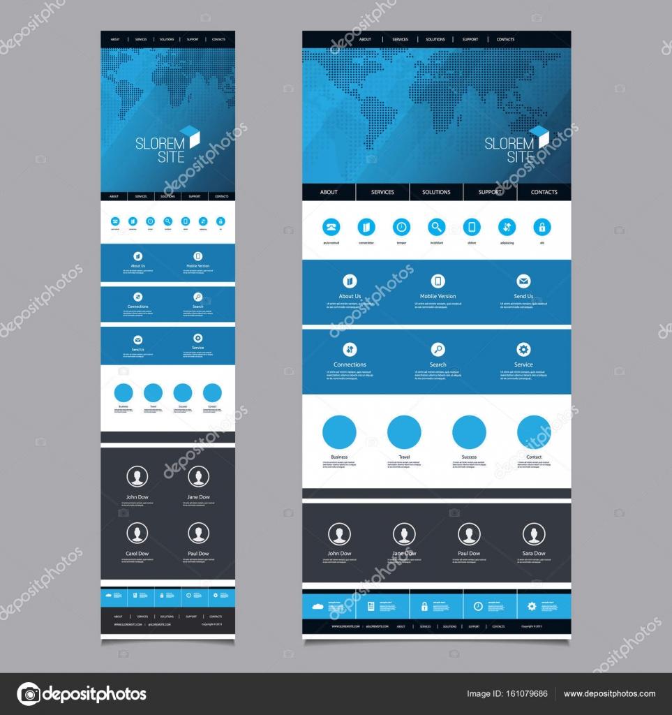 Ansprechende One Page Website Vorlage Header Design Mit Weltkarte