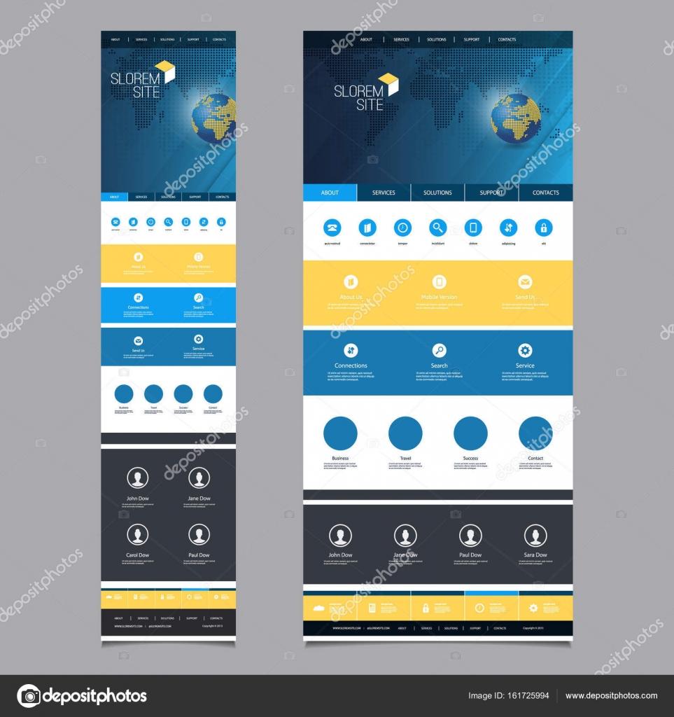 Ansprechende One Page Website Vorlage - Header Design mit Erdkugel ...