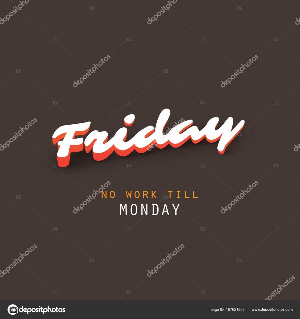 Keine Arbeit bis Montag - Freitag-Banner-Design-Vorlage ...