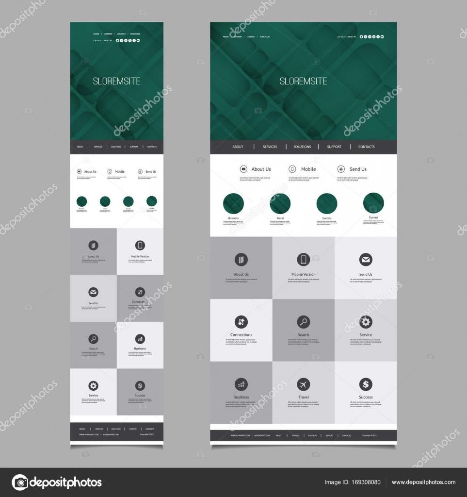 Ansprechende One Page Website Vorlage - Header Design mit abstrakten ...