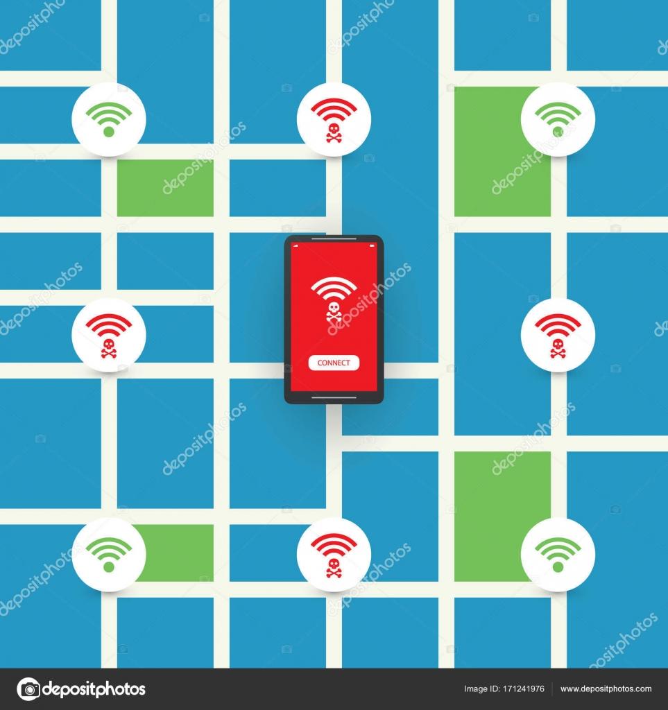 wifi térkép Nem biztonságos nyilvános szikratávíró forrófejű ember tervez val  wifi térkép