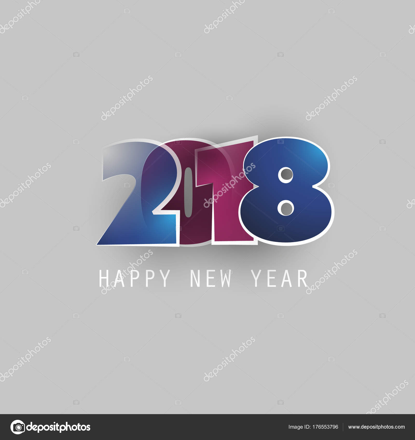 Best Wishes - Abstract Modern Style Happy New Year Greeting Card or ...