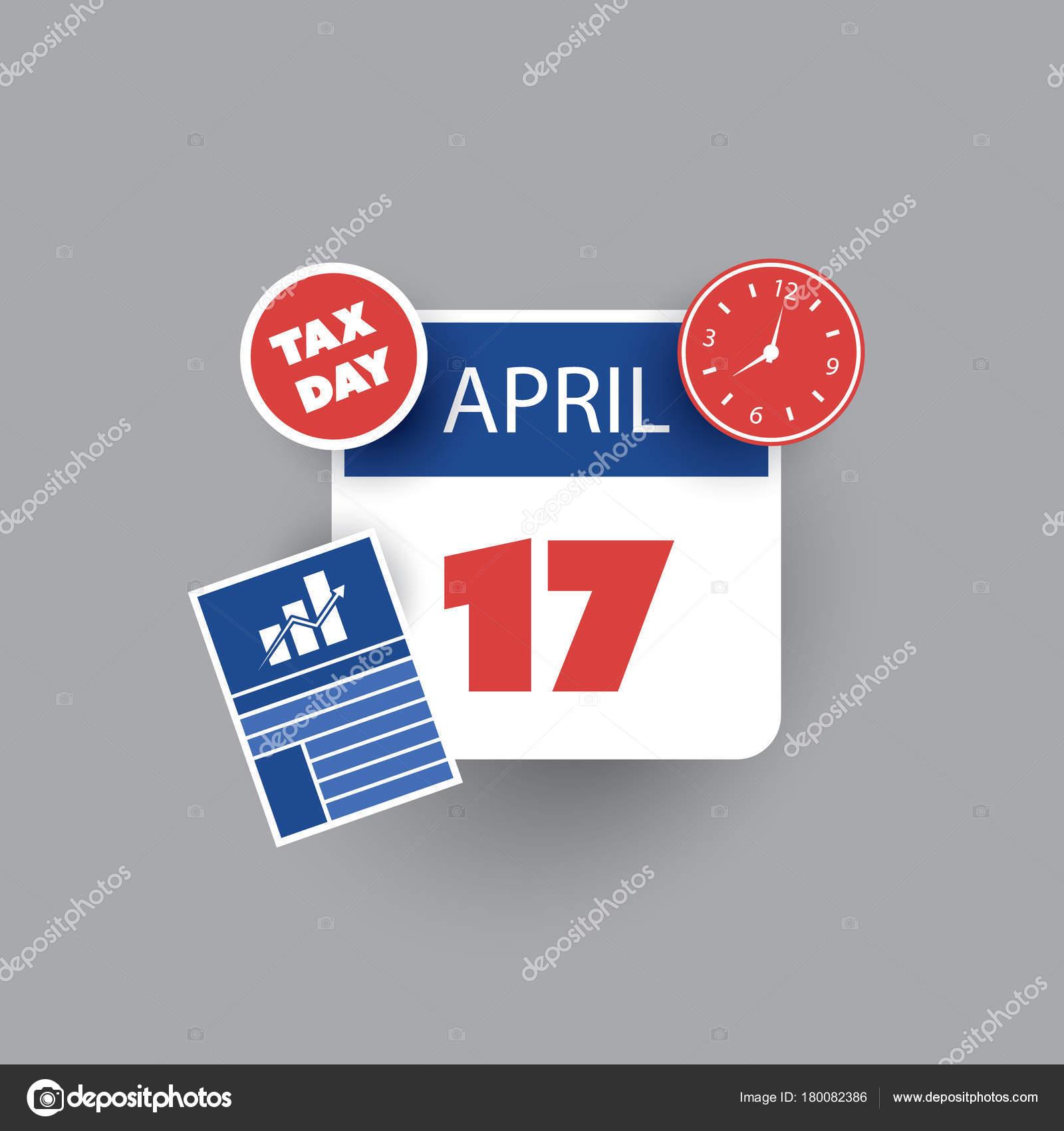 Tax Day 2017 Top Federal Tax Charts: Calendar Design Template