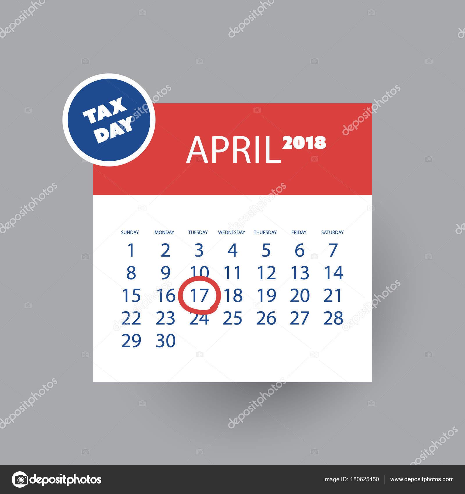 Impuesto día recordatorio concepto - calendario plantilla de diseño ...