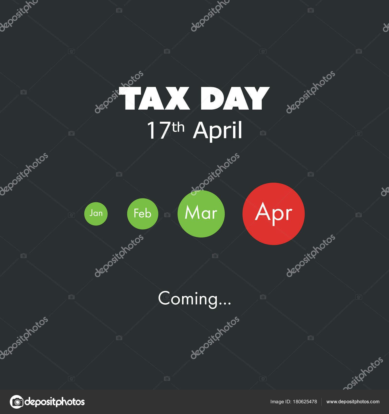 Impuestos al día está viniendo, plantilla de diseño - fecha límite ...