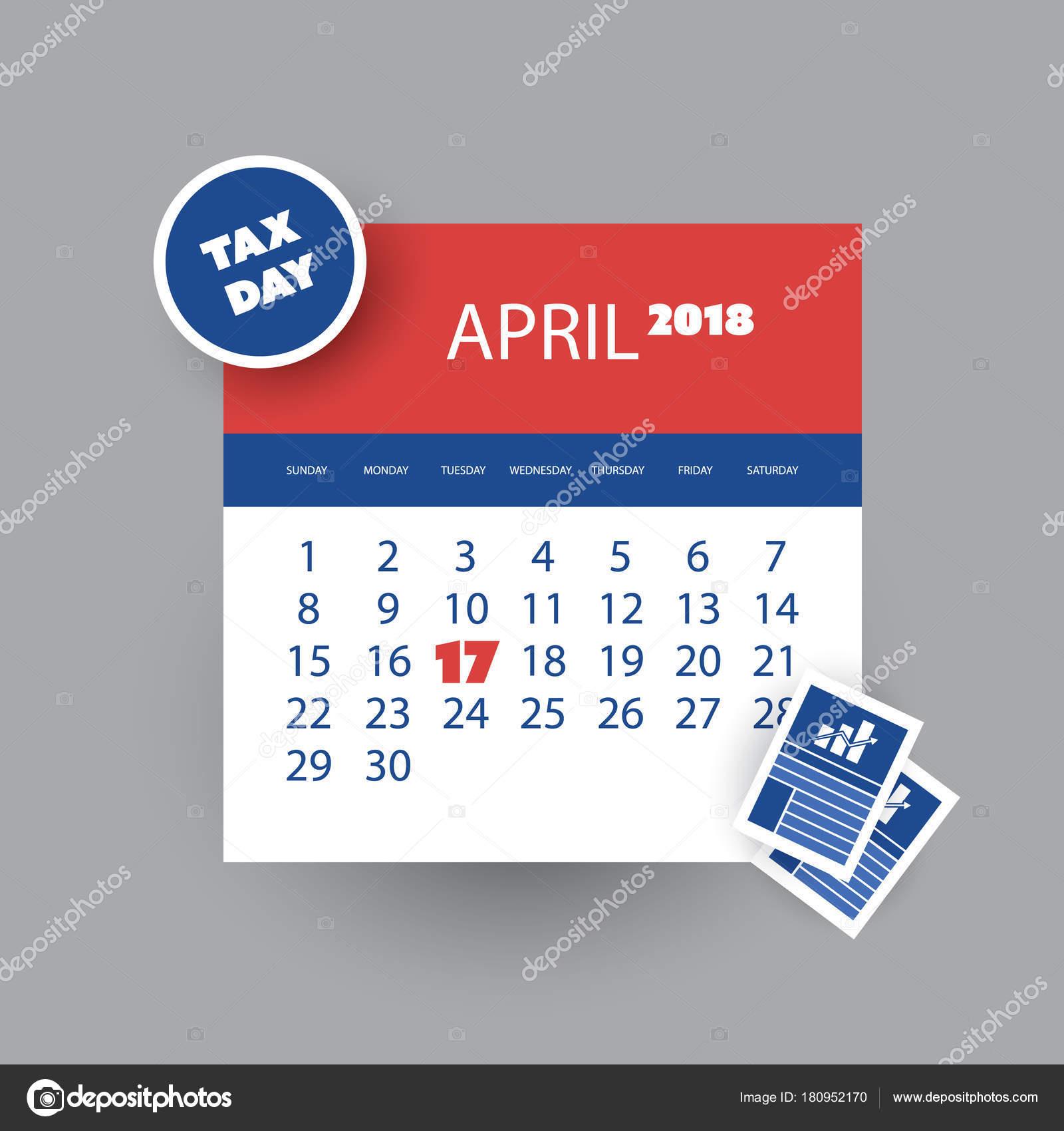 Imposta Giorno Promemoria Concetto   Calendario Design Template   Usa  Scadenza Fiscale, Due Date Per