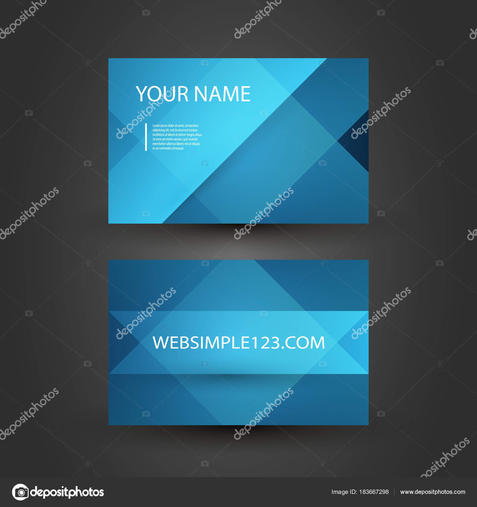 Abstract Colorful Modern Styled Business Card Template Creative ...