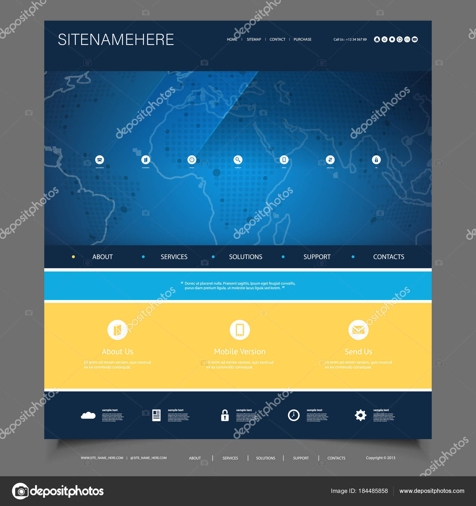 Business, Connection, Network - Website Template Design — Stock ...