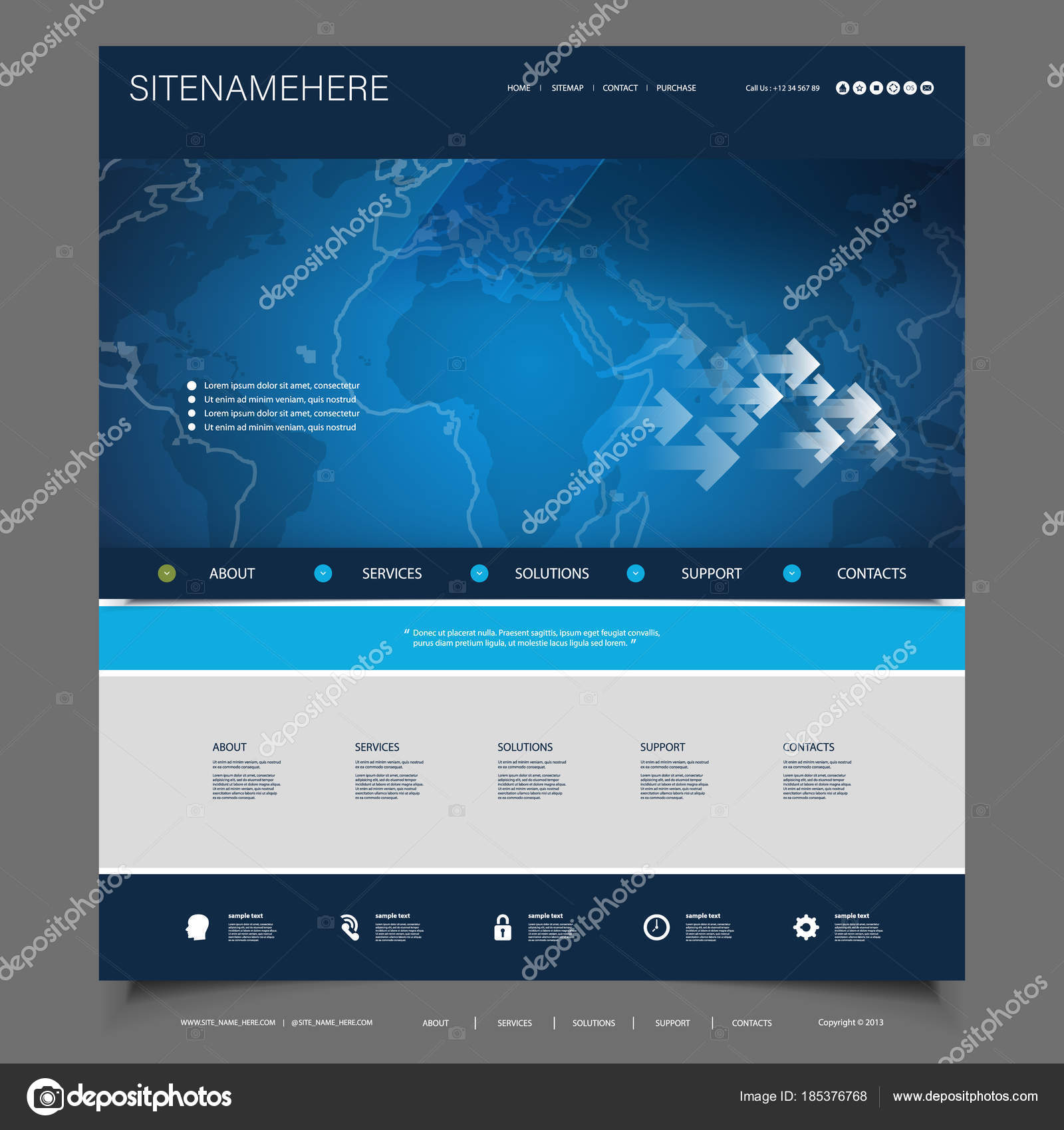 Global business technology website template design stock vector global business technology website template design stock vector accmission Image collections