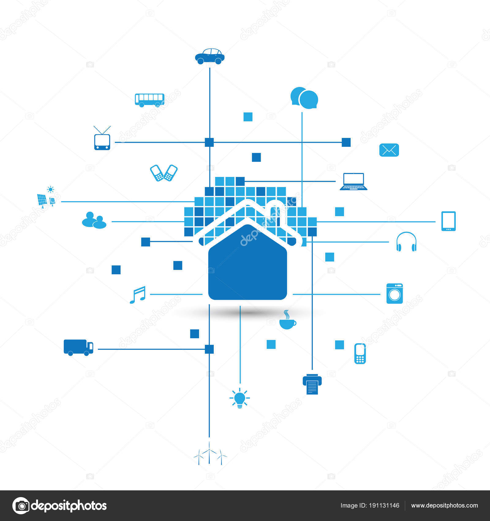 Cloud Computing Iot Home Automation Design Concept With