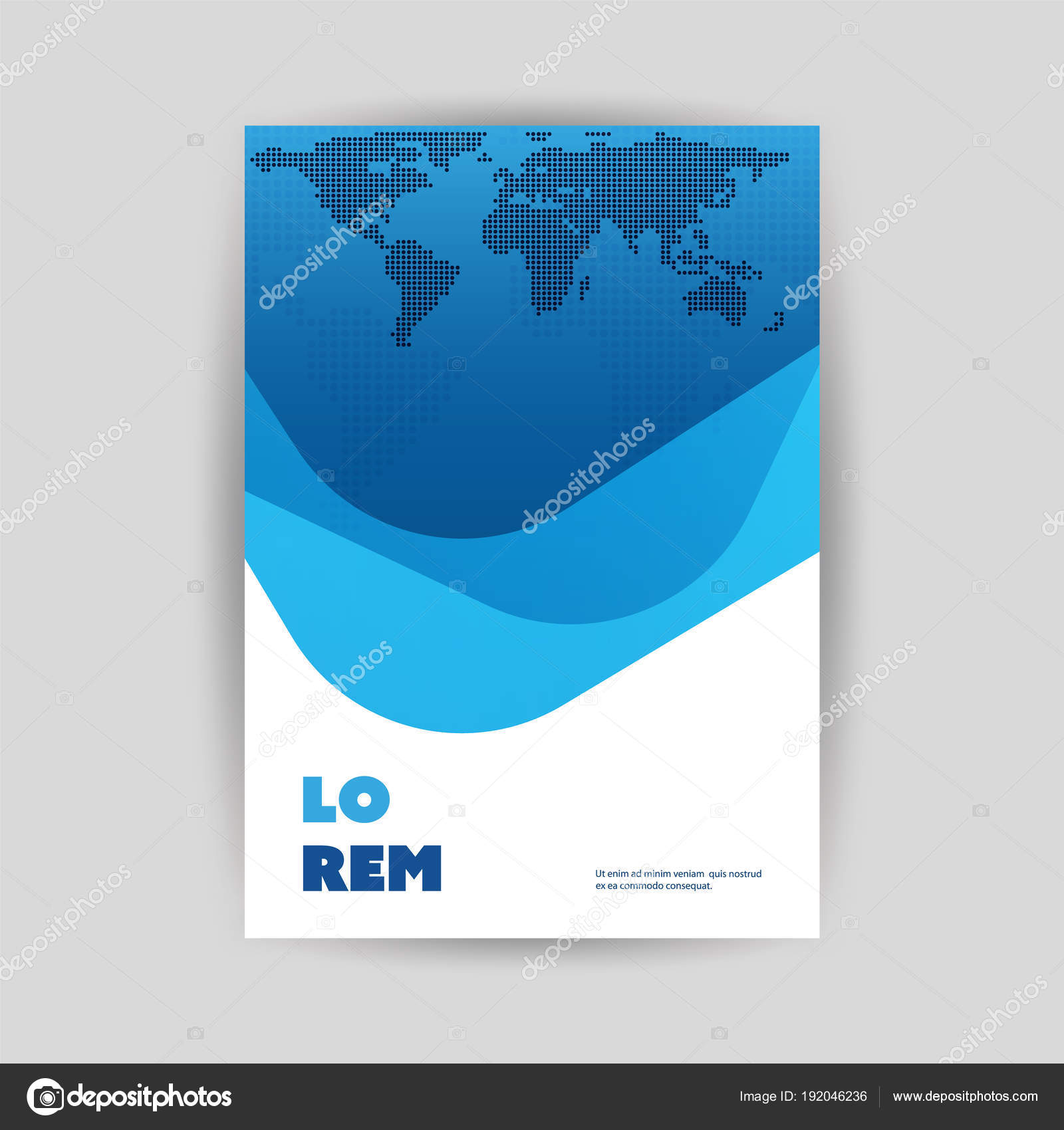 colorful modern styled flyer folder brochure leaflet pamphlet document or book cover creative design template illustration in editable vector format