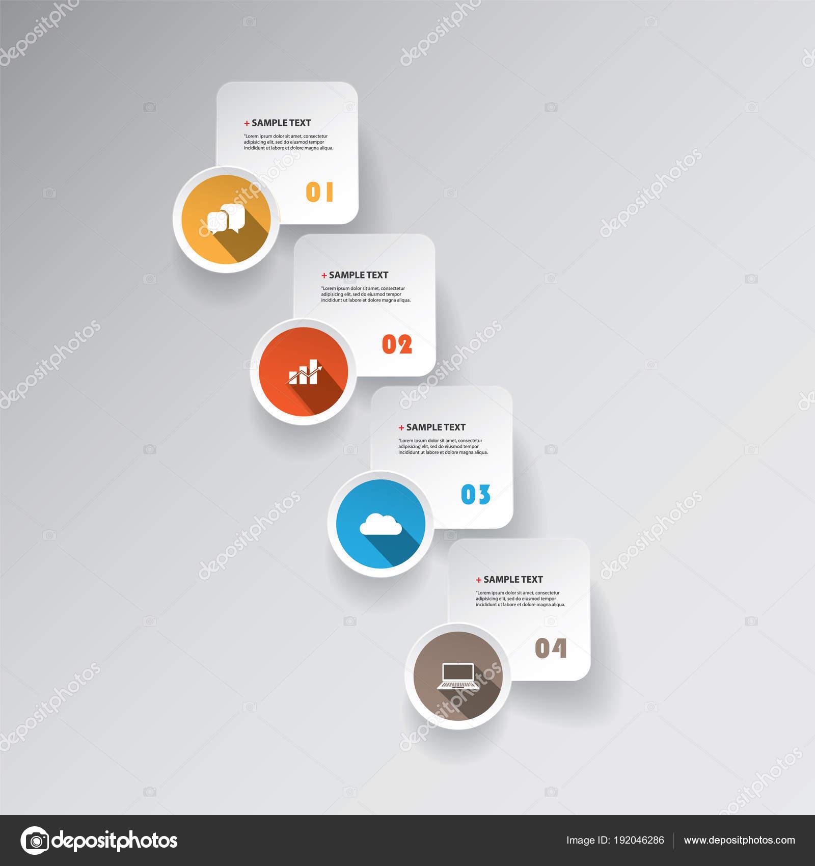 カラフルなモダンな紙カット スタイル インフォ グラフィック
