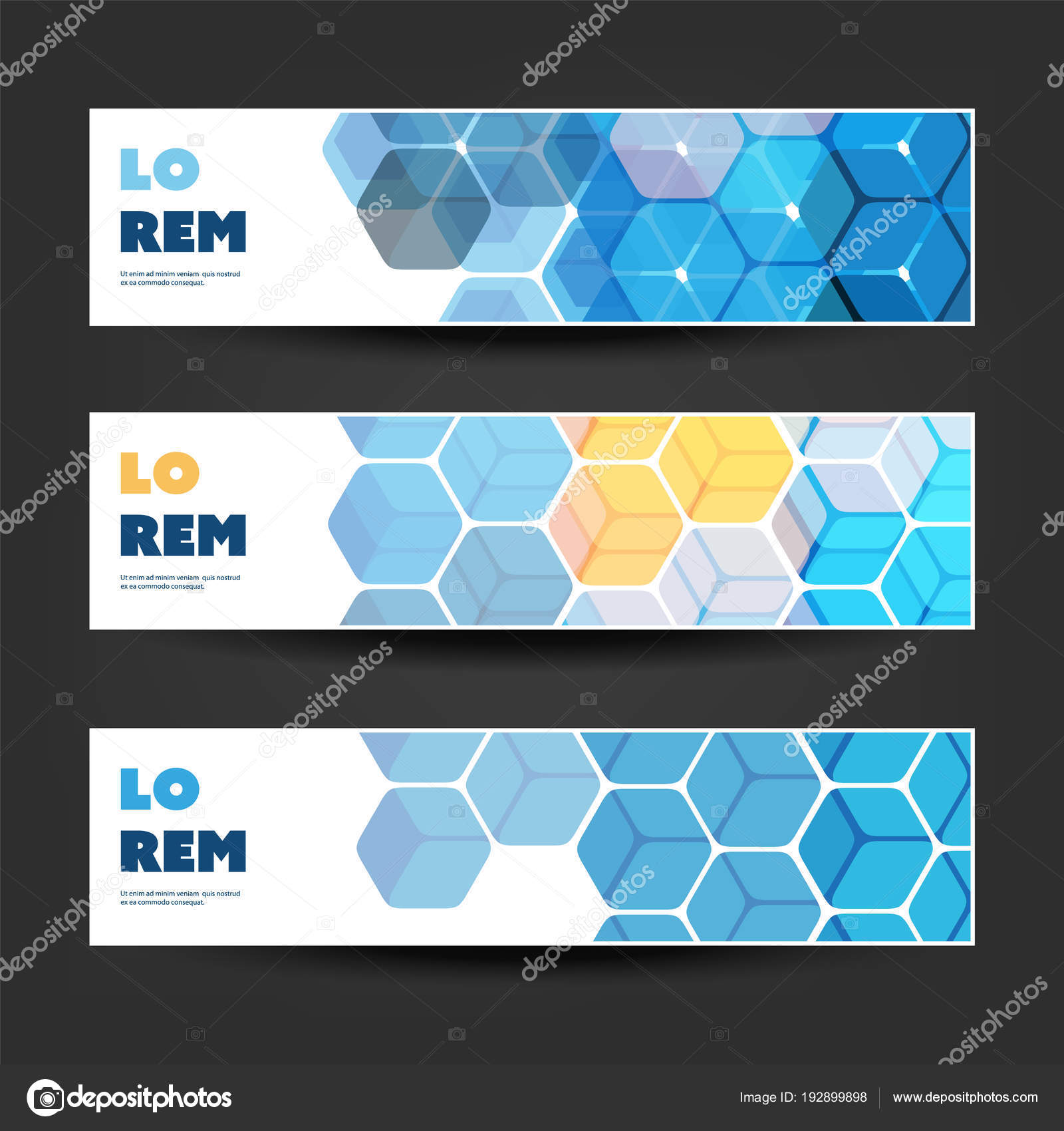 Set of horizontal banner or header designs for business announcement set of horizontal banner or header designs for business announcement or web ad templates colors cheaphphosting Image collections