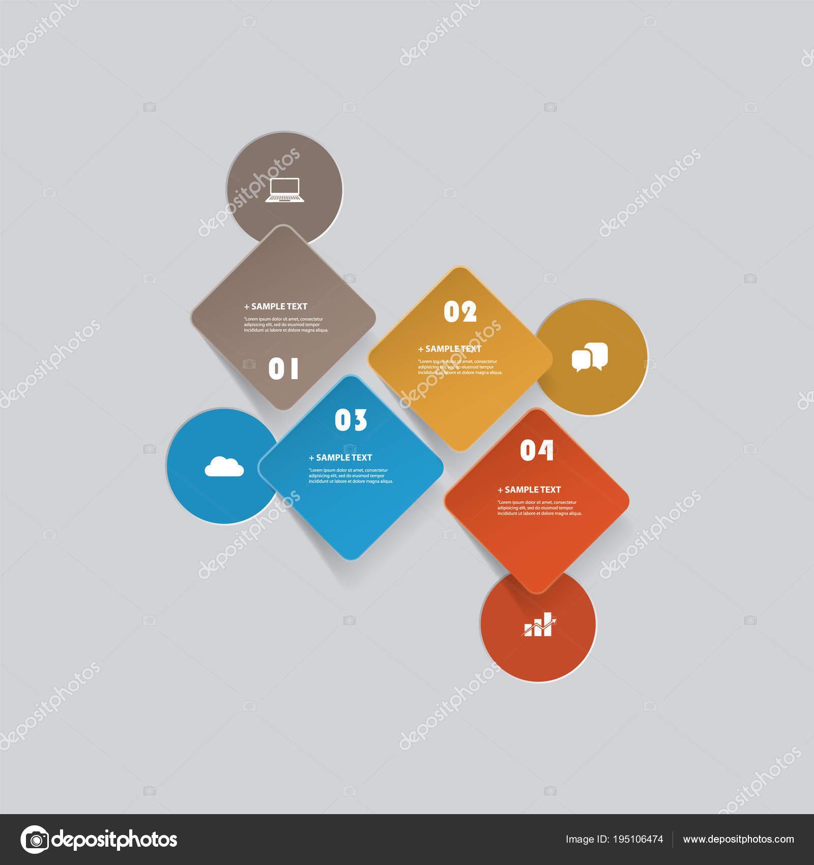 カット スタイル インフォ グラフィック デザイン , カラフルな