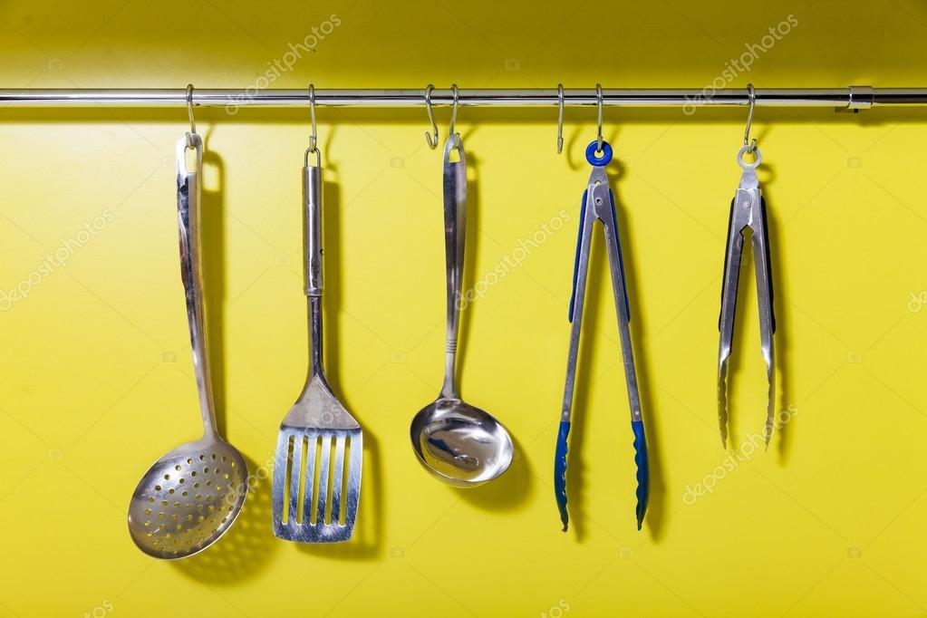 Cooking utensils on hanger