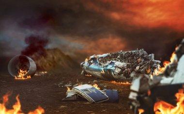 plane ruins in desert