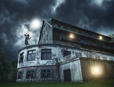 Portrait of the horror zombie woman