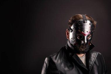 Bloody murderer in hockey mask