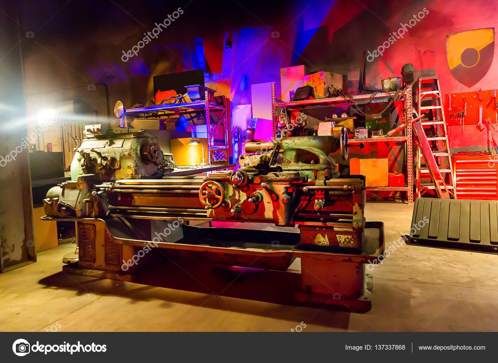 Garage Workshop With Tools Stock Photo C Nomadsoul1 137337868