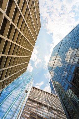 skyscrapers against blue sky