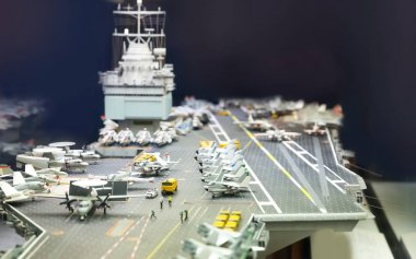 Miniature model of aircraft carrier