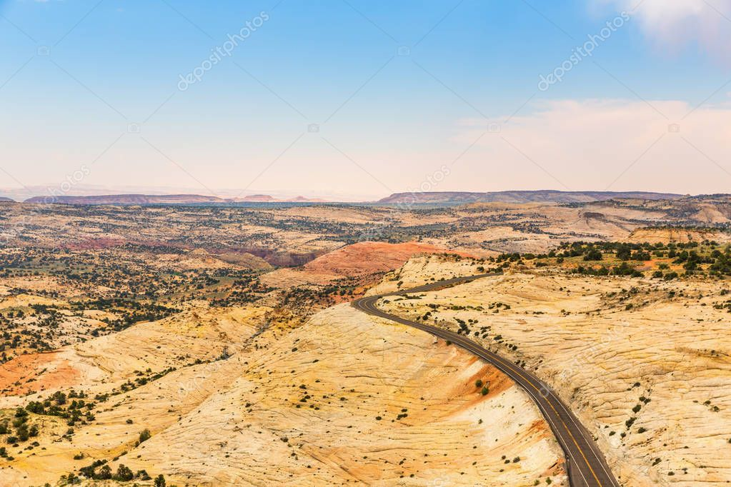 picturesque landscape of desert