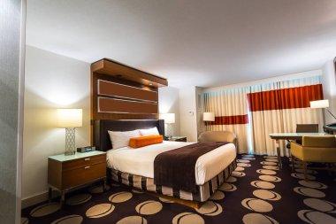 Luxury interior of bedroom in hotel